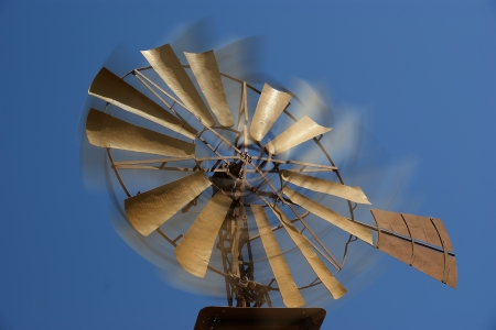 Old ranch windmill photo