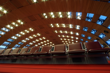 Paris-Charles de Gaulle Airport, CDG, LFPG ( Paris-Charles de Gaulle), also known as Roissy Airport (or just Roissy in French), Terminal 2E Departure Lounge