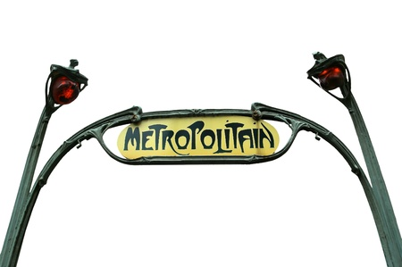 Famous Paris Metro Sign, France