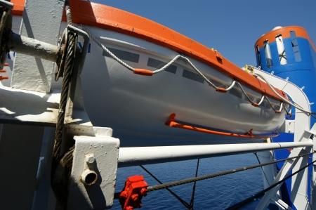 Lifeboats on a large passenger ship Stock Photo - 17648700