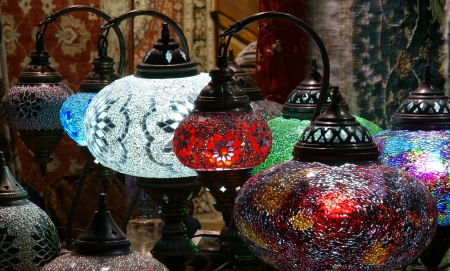 Traditional turkish lamps  Stock Photo - 17650936