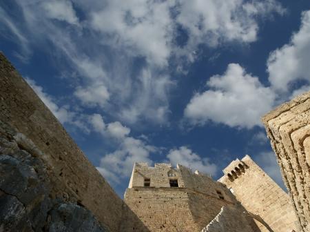 ��archeological site�: Linods Acropolis on Rhodos Ancient Archeological site, Greece