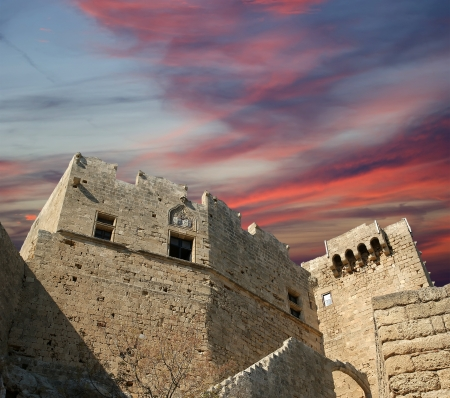 Linods Acropolis on Rhodos Ancient Archeological site, Greece photo