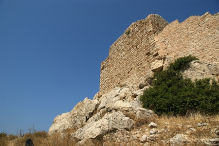 Medieval Castle of Kritinia in Rhodes Greece, Dodecanese: On a hill of 131m above the village of Kritinia, northern Rhodes, there are the ruins of a Medieval Castle. With elements of Byzantine and Venetian architecture, this castle was constructed by the