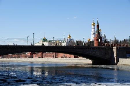 Moscow Kremlin on a sunny winter day, Russia photo