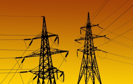 Electricity pylons and line  photo