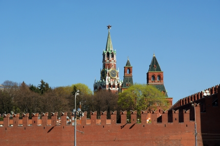 Moscow Kremlin on a sunny day, Russia photo