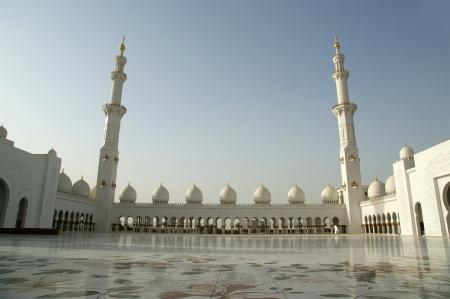 Abu Dhabi Sheikh Zayed White Mosque in UAE Editorial