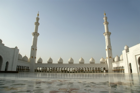 Abu Dhabi Sheikh Zayed White Mosque in UAE Editorial