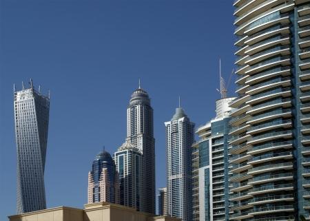 Modern skyscrapers, Dubai Marina, Dubai, United Arab Emirates photo