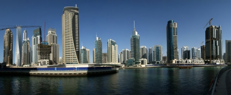 Modern skyscrapers, Dubai Marina, Dubai, United Arab Emirates Stock Photo - 19885610
