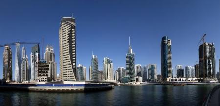 commercial real estate: Modern skyscrapers, Dubai Marina, Dubai, United Arab Emirates