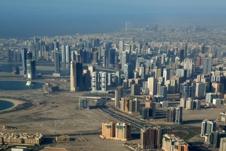Aerial view. Dubai, United Arab Emirates (UAE).  photo