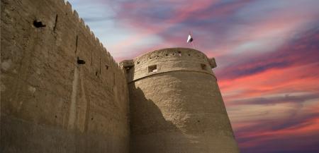 barracks: Old Fort. Dubai, United Arab Emirates (UAE). This  castlefort is the oldest building still standing in Dubai (United Arab Emerites) which is now part of the Dubai museum Editorial
