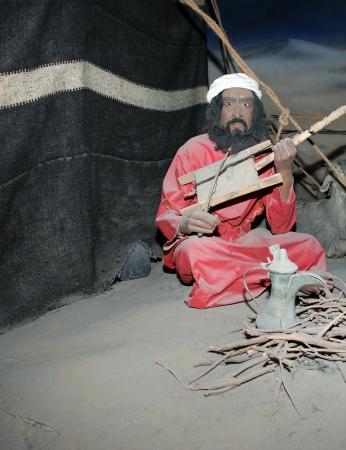 barracks: Mannequin Belonger (Bedouin). Dubai museum, United Arab Emirates,UAE       Editorial