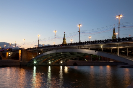 Bolshoy Kamenny Bridge (Greater Stone Bridge), spanning Moskva River at the western end of the Moscow Kremlin photo