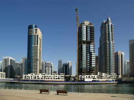 Modern skyscrapers, Dubai Marina, Dubai, United Arab Emirates