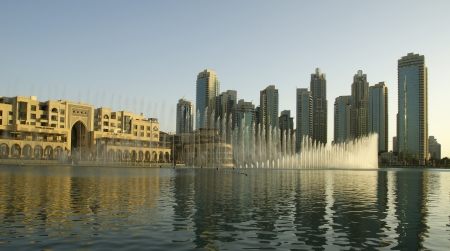famous dubai musical fountain, United Arab Emirates photo