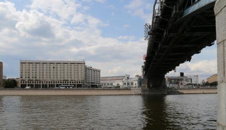 moskva river: Moskva river embankment, Moscow, Russia