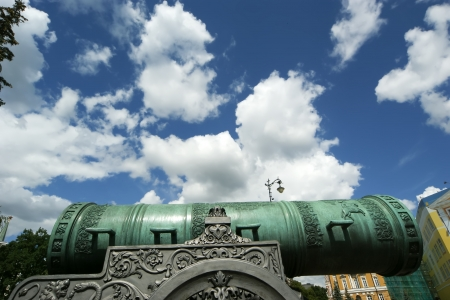 The Tsar Cannon is a large, 5.94 metres (19.5 ft) long cannon on display on the grounds of the Moscow Kremlin Stock Photo - 21205182