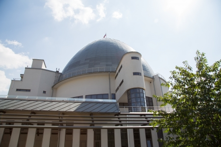 planetarium: Moscow Planetarium on the background of sky,  Russia