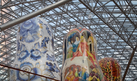 nested: Exhibition of Russian nested dolls in Moscow Afi Mall, Russia