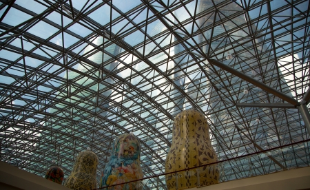 matroshka: Exhibition of Russian nested dolls in Moscow Afi Mall, Russia