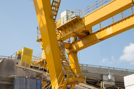 bridge construction: Yellow Gantry Bridge Crane for Cargo and Construction