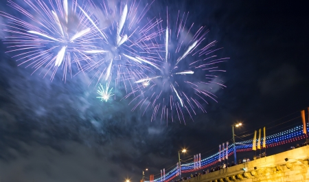 Firework over Moscow. Russia photo
