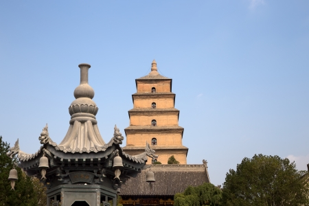 Giant Wild Goose Pagoda or Big Wild Goose Pagoda, is a Buddhist pagoda located in southern Xian (Sian, Xian),Shaanxi province, China photo