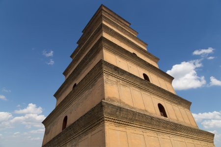 Giant Wild Goose Pagoda or Big Wild Goose Pagoda, is a Buddhist pagoda located in southern Xian (Sian, Xi'an),Shaanxi province, China Stock Photo - 23173566