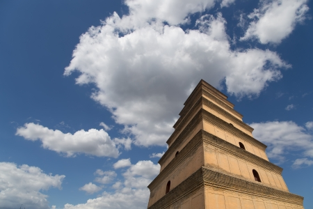 Giant Wild Goose Pagoda or Big Wild Goose Pagoda, is a Buddhist pagoda located in southern Xian (Sian, Xi'an),Shaanxi province, China Stock Photo - 23173571