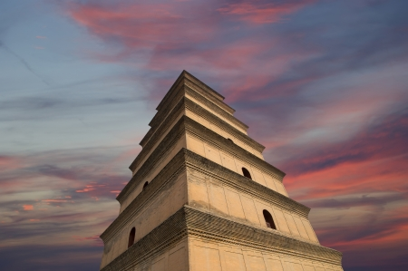 Giant Wild Goose Pagoda or Big Wild Goose Pagoda, is a Buddhist pagoda located in southern Xian (Sian, Xi'an),Shaanxi province, China Stock Photo - 23173577