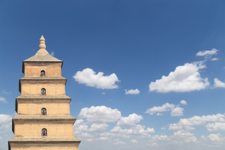 Giant Wild Goose Pagoda or Big Wild Goose Pagoda, is a Buddhist pagoda located in southern Xian (Sian, Xi'an),Shaanxi province, China Stock Photo - 24149724