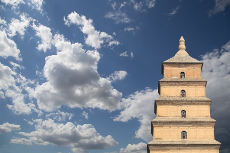 Giant Wild Goose Pagoda or Big Wild Goose Pagoda, is a Buddhist pagoda located in southern Xian (Sian, Xi'an),Shaanxi province, China Stock Photo - 24149726