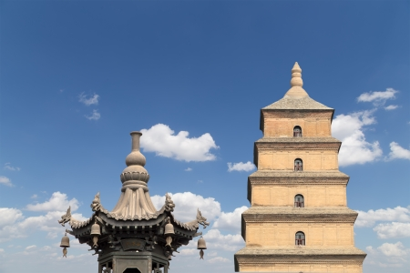 Giant Wild Goose Pagoda or Big Wild Goose Pagoda, is a Buddhist pagoda located in southern Xian (Sian, Xi'an),Shaanxi province, China Stock Photo - 24149750