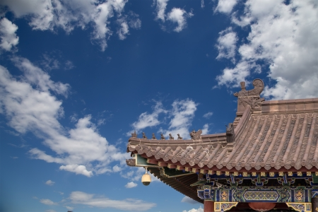 Giant Wild Goose Pagoda or Big Wild Goose Pagoda, is a Buddhist pagoda located in southern Xian (Sian, Xi'an),Shaanxi province, China Stock Photo - 24149758