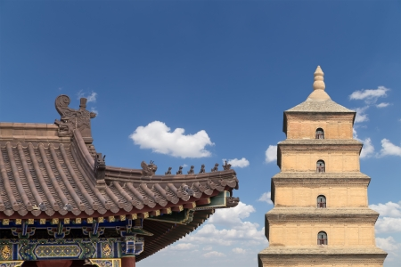 Giant Wild Goose Pagoda or Big Wild Goose Pagoda, is a Buddhist pagoda located in southern Xian (Sian, Xi'an),Shaanxi province, China Stock Photo - 24149787