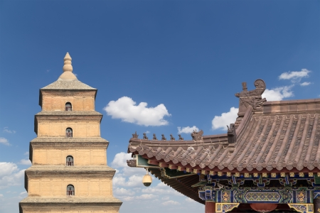 Giant Wild Goose Pagoda or Big Wild Goose Pagoda, is a Buddhist pagoda located in southern Xian (Sian, Xi'an),Shaanxi province, China Stock Photo - 24149802