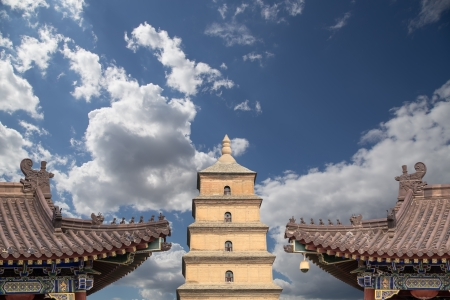 Giant Wild Goose Pagoda or Big Wild Goose Pagoda, is a Buddhist pagoda located in southern Xian (Sian, Xi'an),Shaanxi province, China Stock Photo - 24149813