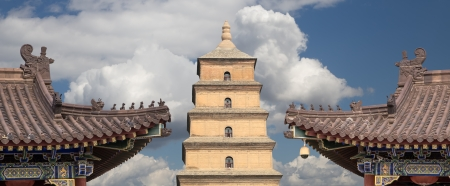 Giant Wild Goose Pagoda or Big Wild Goose Pagoda, is a Buddhist pagoda located in southern Xian (Sian, Xian),Shaanxi province, China