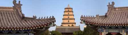 Giant Wild Goose Pagoda or Big Wild Goose Pagoda, is a Buddhist pagoda located in southern Xian (Sian, Xi'an),Shaanxi province, China Stock Photo - 24149995