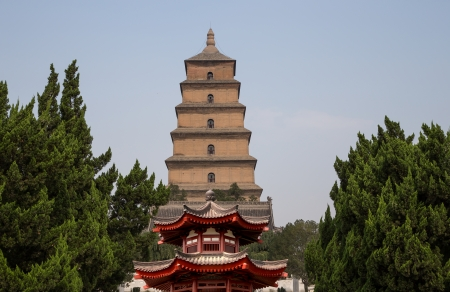 Giant Wild Goose Pagoda or Big Wild Goose Pagoda, is a Buddhist pagoda located in southern Xian (Sian, Xian), Shaanxi province, China photo