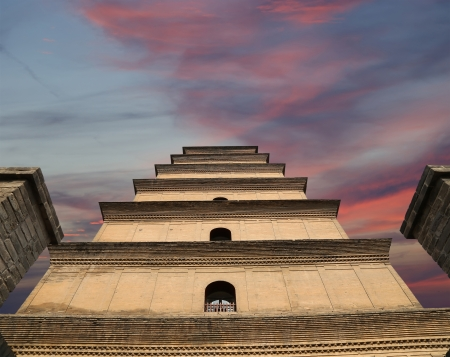 Giant Wild Goose Pagoda (Big Wild Goose Pagoda), is a Buddhist pagoda located in southern Xian (Sian, Xi'an), Shaanxi province, China Stock Photo - 24616586