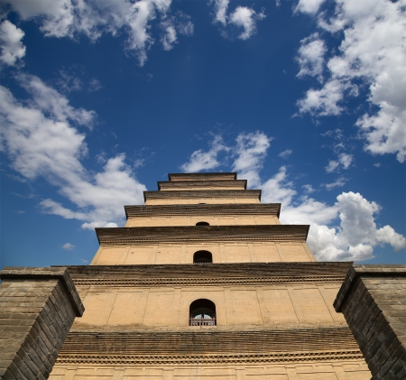 Giant Wild Goose Pagoda (Big Wild Goose Pagoda), is a Buddhist pagoda located in southern Xian (Sian, Xi'an), Shaanxi province, China Stock Photo - 24616549