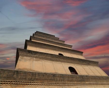 Giant Wild Goose Pagoda (Big Wild Goose Pagoda), is a Buddhist pagoda located in southern Xian (Sian, Xi'an), Shaanxi province, China Stock Photo - 24616423
