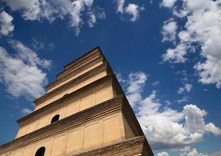 Giant Wild Goose Pagoda (Big Wild Goose Pagoda), is a Buddhist pagoda located in southern Xian (Sian, Xi'an), Shaanxi province, China Stock Photo - 24616430