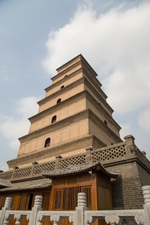 Giant Wild Goose Pagoda (Big Wild Goose Pagoda), is a Buddhist pagoda located in southern Xian (Sian, Xi'an), Shaanxi province, China Stock Photo - 24616444