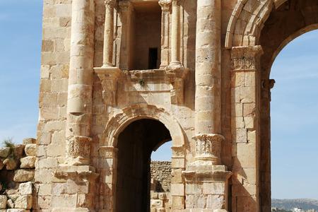 hadrian: Arch of Hadrian in Jerash, Jordan-- was built to honor the visit of emperor Hadrian to Jerash in 129130 AD