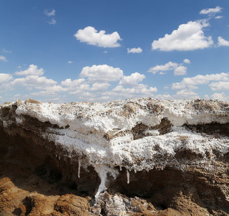 dead sea salt at Jordan photo
